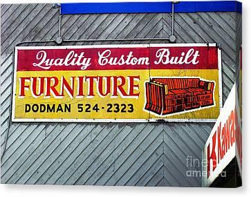 Furniture Sign Canvas Print