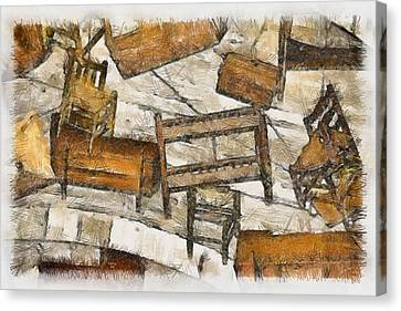 Furniture Canvas Print by Trish Tritz