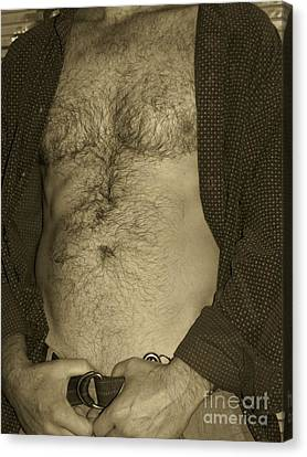 Furry Chest Sepia Canvas Print by Gary F