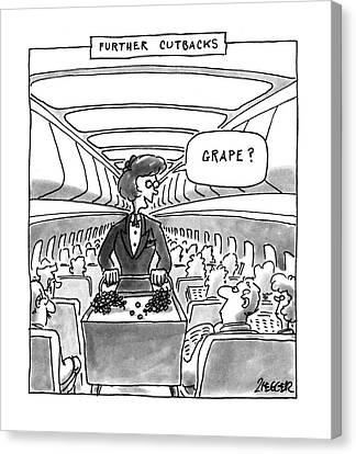 Grapes Canvas Print - Further Cutbacks 'grape?' by Jack Ziegler