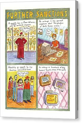 'further Sanctions' Canvas Print by Roz Chast