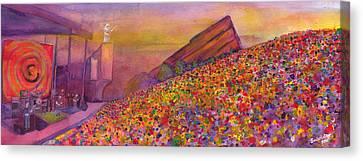 Bob Canvas Print - Furthur At Redrocks 2011 by David Sockrider
