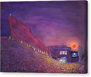 Furthur Red Rocks Equinox Canvas Print by David Sockrider