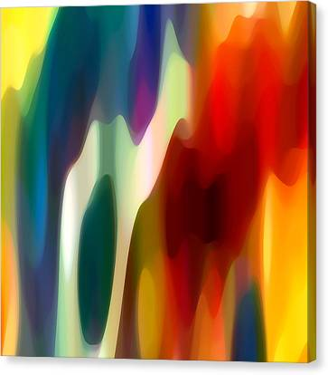 Abstract Forms Canvas Print - Fury 1 by Amy Vangsgard