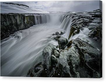 Fury Of Water Canvas Print