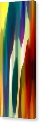 Fury Panoramic Vertical 4 Canvas Print by Amy Vangsgard