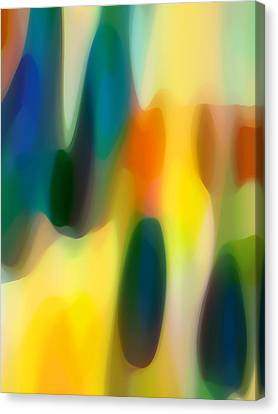 Abstract Forms Canvas Print - Fury Rain 5 by Amy Vangsgard