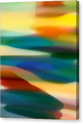 Abstract Seascape Canvas Print - Fury Seascape 1 by Amy Vangsgard