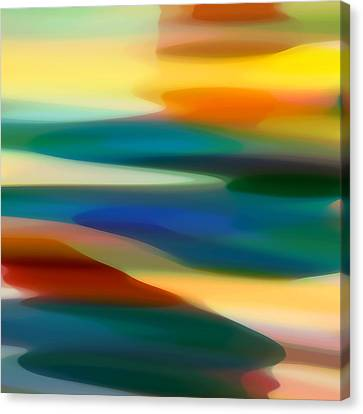 Abstract Art Canvas Print - Fury Seascape 5 by Amy Vangsgard