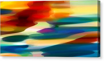 Abstract Forms Canvas Print - Fury Seascape by Amy Vangsgard