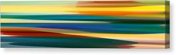 Abstract Forms Canvas Print - Fury Seascape Panoramic 1 by Amy Vangsgard