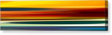Fury Seascape Panoramic 2 Canvas Print by Amy Vangsgard