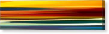Fury Seascape Panoramic 2 Canvas Print