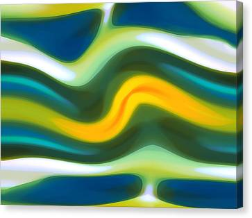 Abstract Tide 5 Canvas Print by Amy Vangsgard