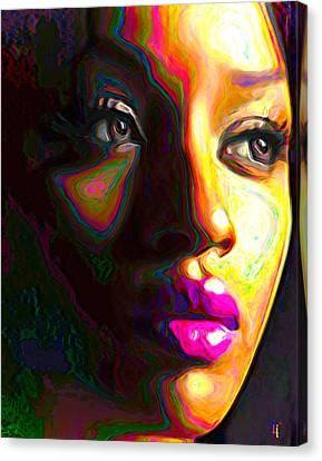 Fuschia Canvas Print by  Fli Art