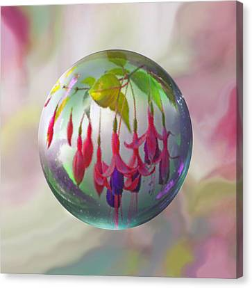 Fuschia Say Canvas Print by Robin Moline