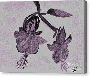 Fushia Angel Shadow Canvas Print by Marsha Heiken