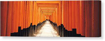 Torii Canvas Print - Fushima-inari Kyoto Japan by Panoramic Images