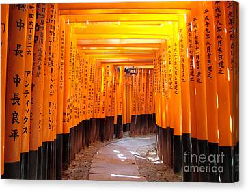 Torii Canvas Print - Fushimi Inari by Delphimages Photo Creations