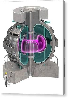 Fusion Reactor Canvas Print by Claus Lunau