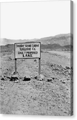 Future Edge Of Lake Meade Canvas Print by Underwood Archives