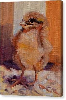 Future Egg Layer Canvas Print by Pattie Wall