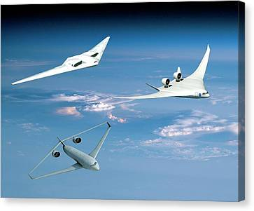 Future Green Aircraft Canvas Print by Nasa