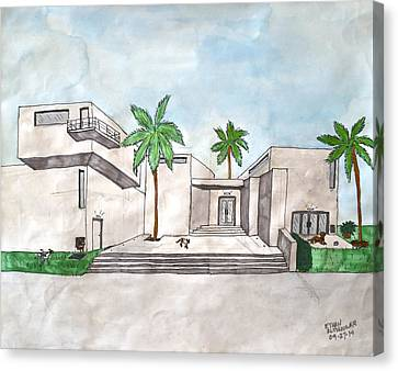 Architectural House  Canvas Print by Ethan Altshuler