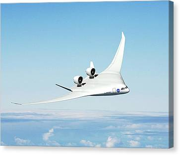 Blend Canvas Print - Future Hybrid Aircraft by Nasa/boeing