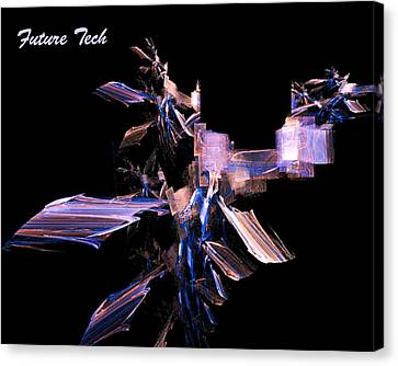 Canvas Print featuring the digital art Future Tech by R Thomas Brass