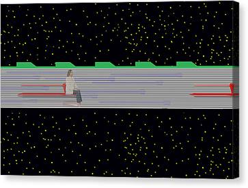 Canvas Print featuring the mixed media Future Transit by Bob Pardue