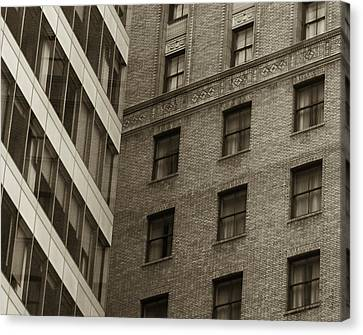 Canvas Print featuring the photograph Futures Past - Architecture Abstract  by Steven Milner