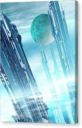 Futuristic City Canvas Print by Victor Habbick Visions
