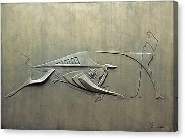 Futuristic Corrida Canvas Print by Koicho Penchev