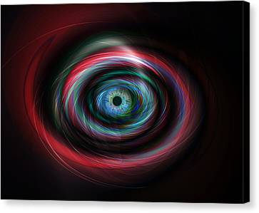 Futuristic Light Eye Canvas Print by Steve Ball
