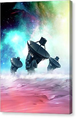 Futuristic Satellites Canvas Print by Victor Habbick Visions