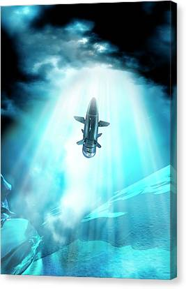 Outer Space Canvas Print - Futuristic Space Craft by Victor Habbick Visions