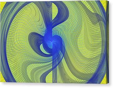 Futuristic Spiral Disc Fractal Flame Canvas Print by Keith Webber Jr