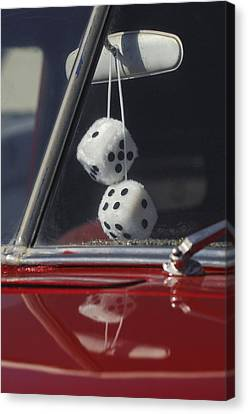 Fuzzy Dice 2 Canvas Print by Jill Reger