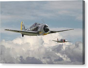 Fw 190 - Butcher Bird Canvas Print by Pat Speirs