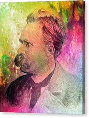 F.w. Nietzsche Canvas Print by Taylan Apukovska