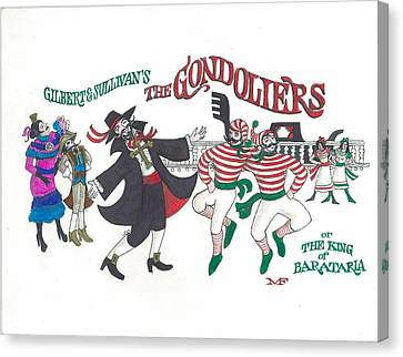 G And S The Gondoliers Canvas Print by Marty Fuller
