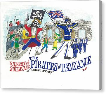 G And S  The Pirates Of Penzance Canvas Print by Marty Fuller