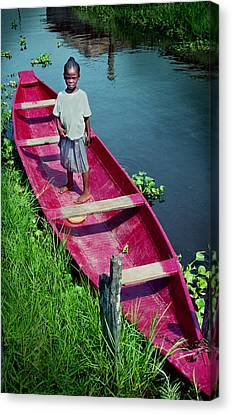 Dad's Canoe Canvas Print