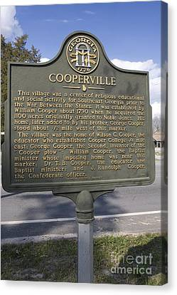 Ga-124-13 Cooperville Canvas Print by Jason O Watson