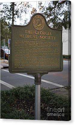 The Interests Of Society Canvas Print - Ga-25-004 The Georgia Medical Society by Jason O Watson