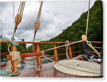 Canvas Print featuring the photograph Boat Rope by Dany Lison