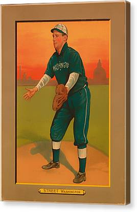 Gabby Street Baseball Card 1911 Canvas Print by Mountain Dreams