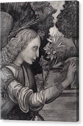 Gabriel At The Annunciation Canvas Print by Estefan Gargost