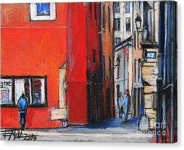 Gadagne Museum Facade In Lyon France Canvas Print